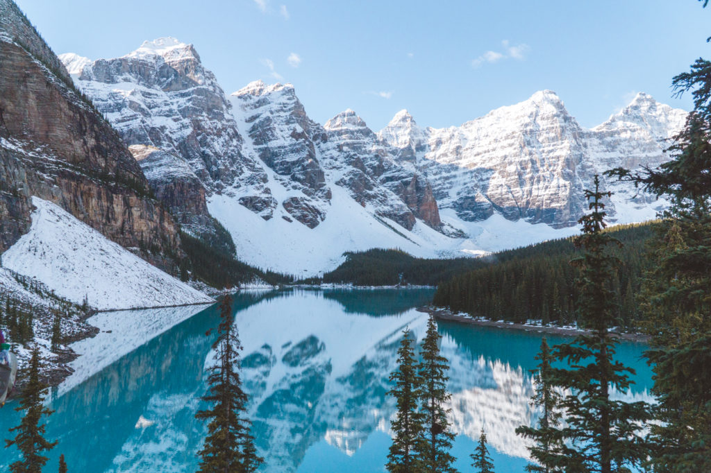 The majestic Moraine Lake... one of the best things to do in Banff (and one of the most popular -- prepare for tourists!).