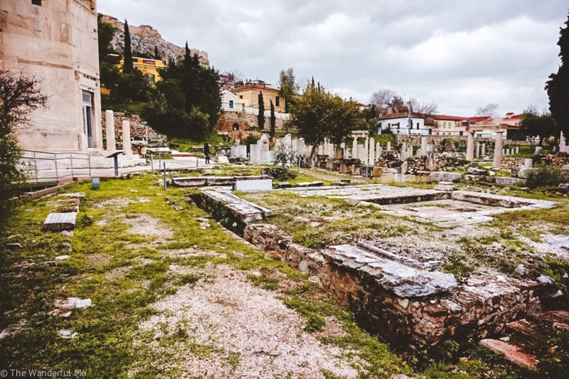The ancient ruins of Roman Agora and Tower of the Winds, an underrated ruin in Athens.