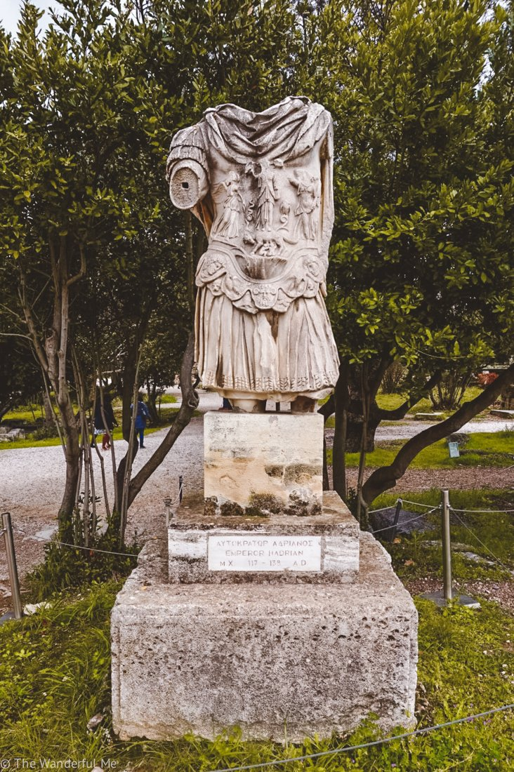 Another ancient statue situated on the ground of Ancient Agora.