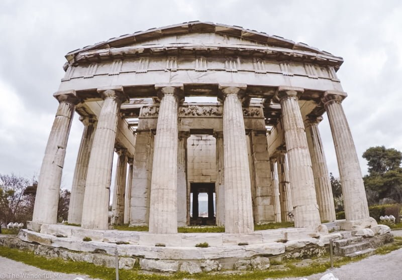 A wide angle view of the Temple of Hephaestus; its preservation is remarkable!