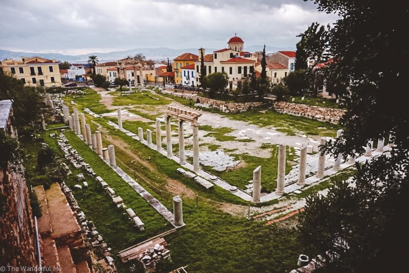 An alternative view of Roman Agora and Tower of the Winds, still just as beautiful with its ancient ruins and ominous towers!