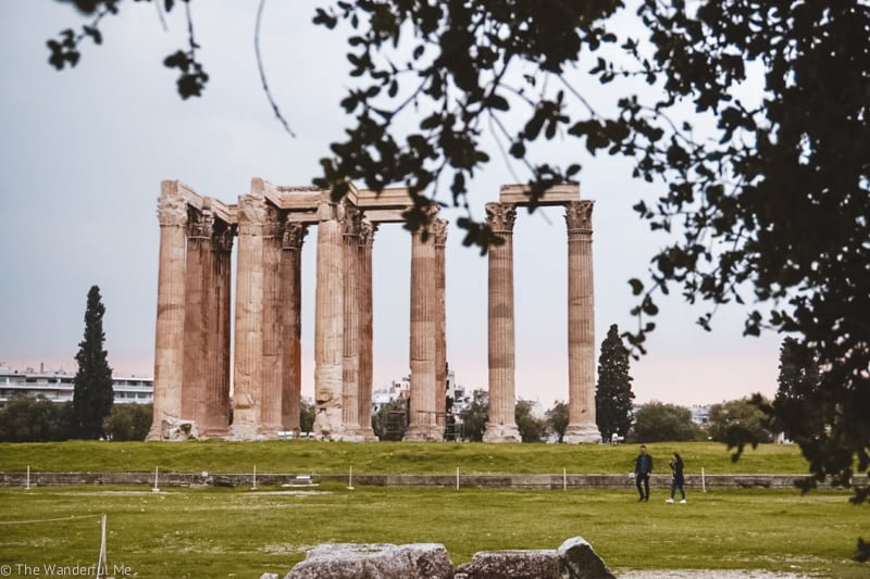 One of my favorite temple ruins in Athens, the Temple of Zeus.