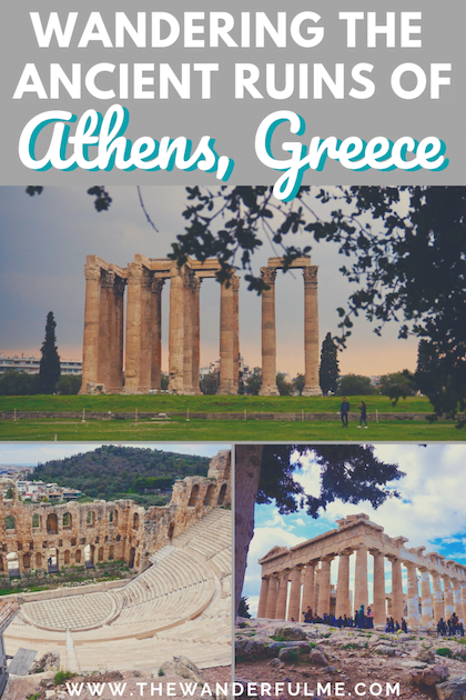 Heading to Athens, Greece? Don't miss out on wanting the magical ruins! When you wander through Athen's ruins, you literally walk through history -- there's nothing cooler! Here's which ruins to visit. #athens #ruins #greece