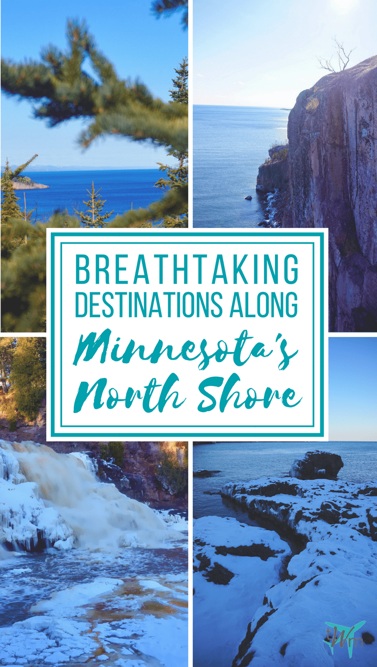 The #NorthShore of Lake Superior is the coastline in #Minnesota that runs from Duluth to the Canadian border. Read about destinations along the shoreline. • Destinations Along Minnesota's North Shore | #thingstosee #roadtrip #destinations