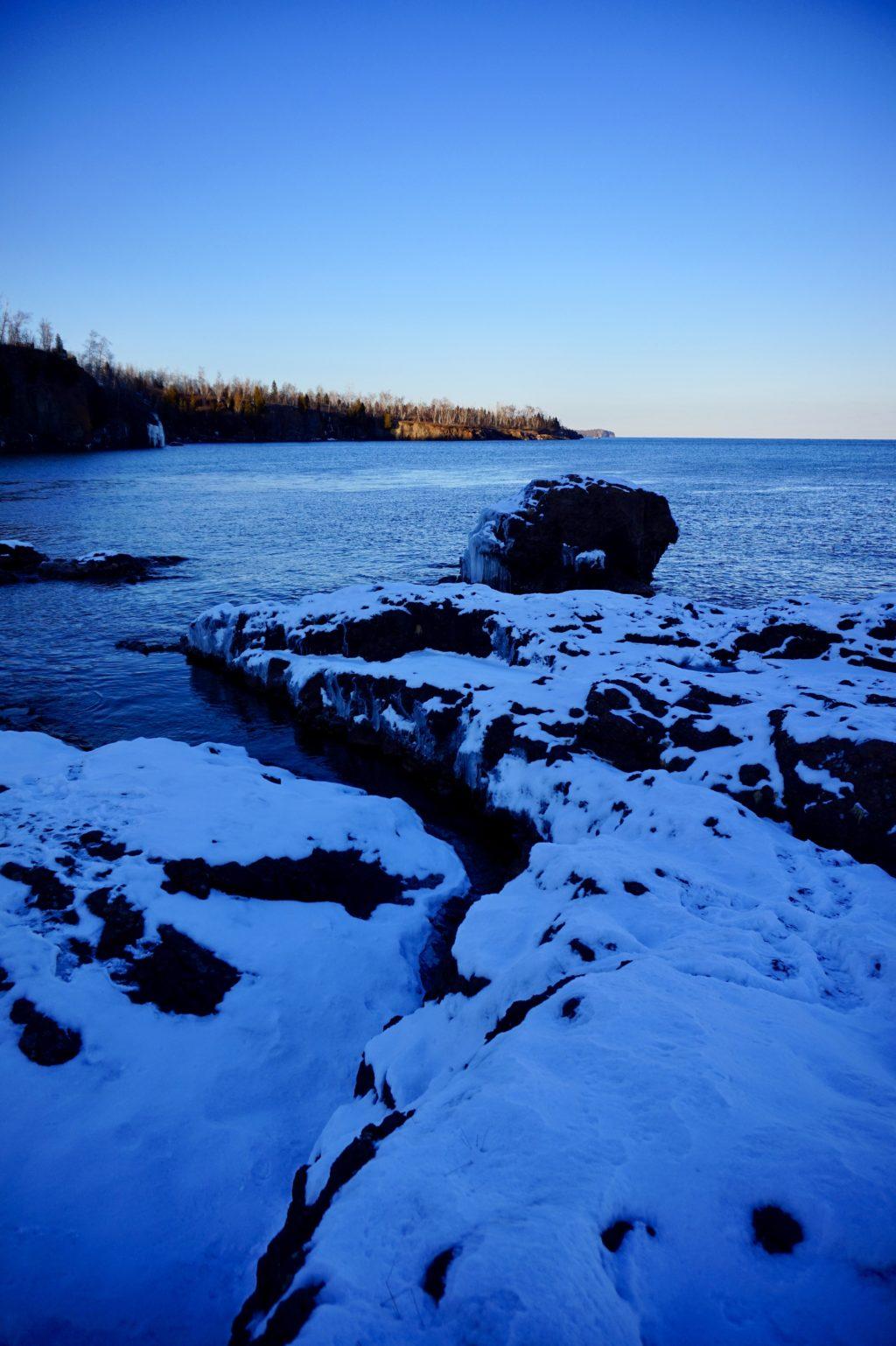 Snowy Coastline •Destination's Along Minnesota's North Shore | The Wanderful Me