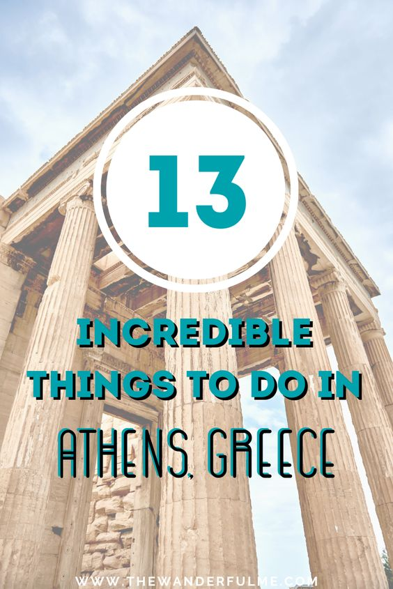 Making plans to travel to Athens, Greece? Or already have a Greece trip planned? Here's the best list of 13 incredible things to do in Athens, so you don't miss out on any attractions or experiences! | #athens #greece #thingstodo #europe #travel