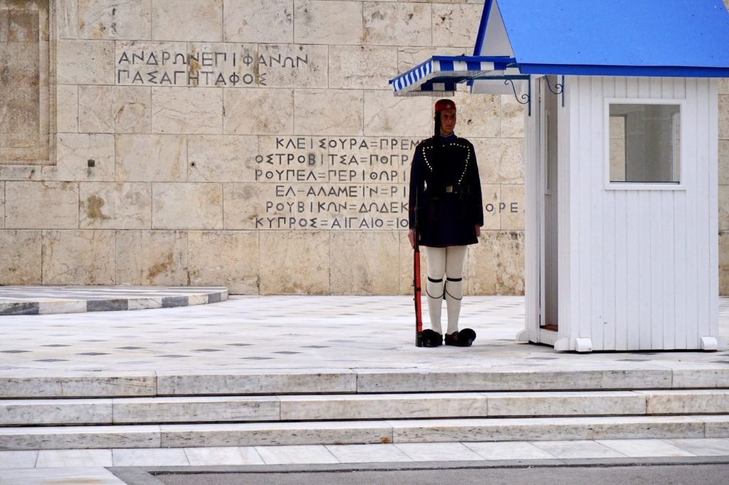 Guard at the Greek Parliament, Athens • 13 Remarkable Things to Do in Athens, Greece | The Wanderful Me