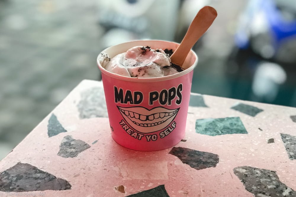 MAD POPS ice cream in Bali is the perfect place to grab some creamy cool vegan ice cream in Canggu and Seminyak!