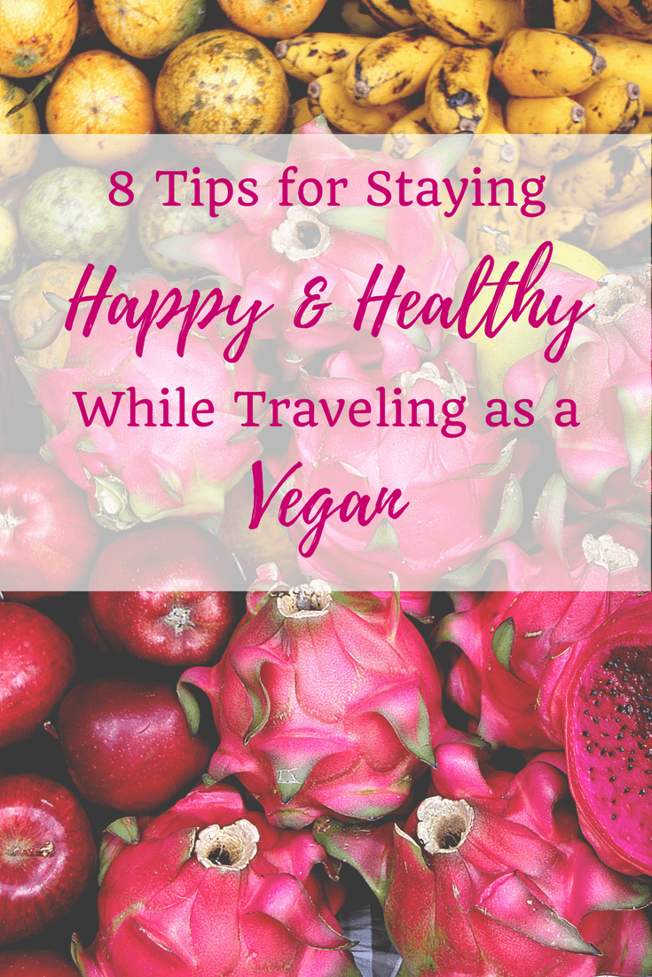 Looking for some helpful advice for staying sane while traveling as a vegan? Check it out. • 8 Tips for Staying Happy and Healthy While Traveling as a Vegan | The Wanderful Me