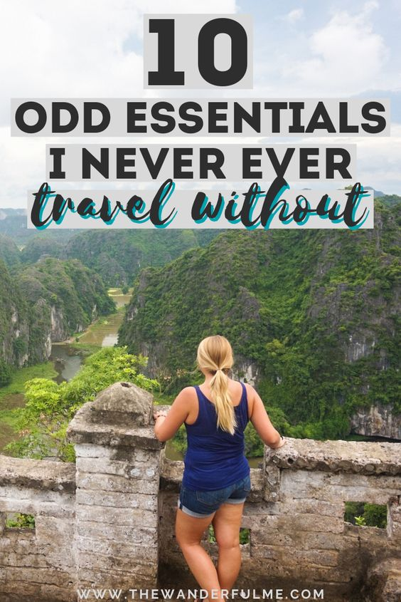 Traveling soon and not sure what to pack for a trip? Forgetting any travel essentials is something I do often... but not when it comes to these things! Here's my travel packing checklist of 10 odd essentials. | #travel #packing #checklist