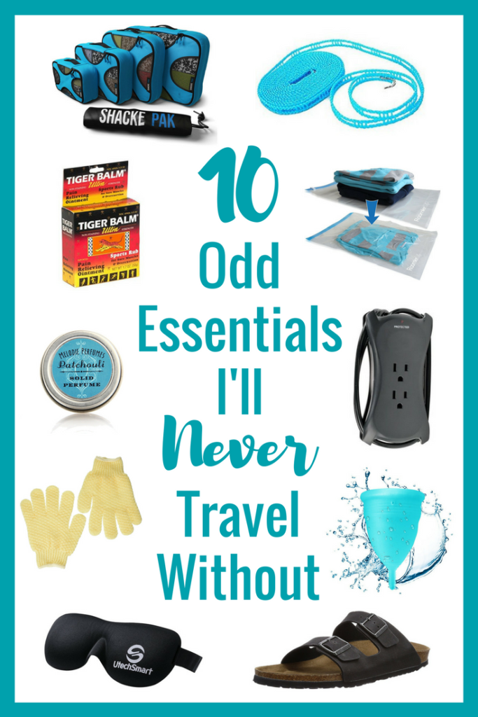 Not sure what to pack for a trip? No matter who you talk to, they'll have some packing essentials for a vacation or adventure but here's my 10 odd packing essentials I'll never travel without! | #packing #packingtips #packingchecklist #travel #whattopack