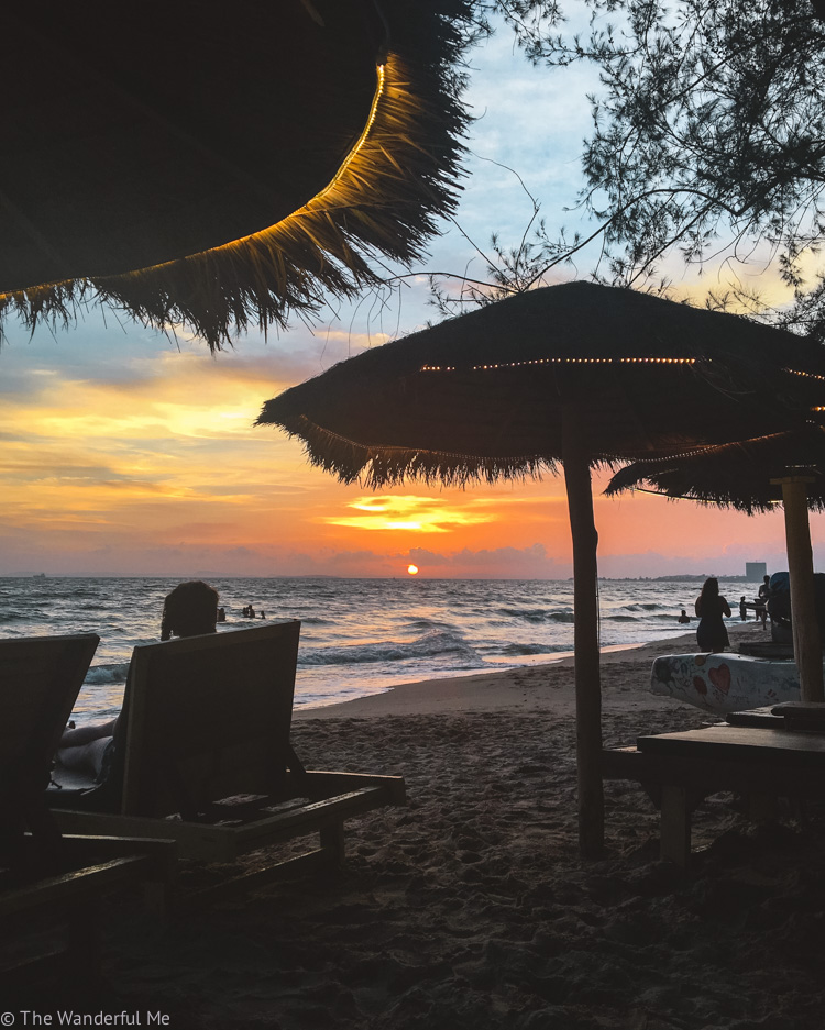 A gorgeous sunset photo while on the beach in Sihanoukville, Cambodia.
