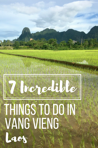 Planning an adventure to Vang Vieng, Laos? Gorgeous blue lagoons, cave hunting, tubing, and MORE! Here are the 7 incredible things to do in Vang Vieng! | #laos #vangvieng #thingstodo #southeastasia #asia #sea #vangvienglaos #sitestosee #attractions