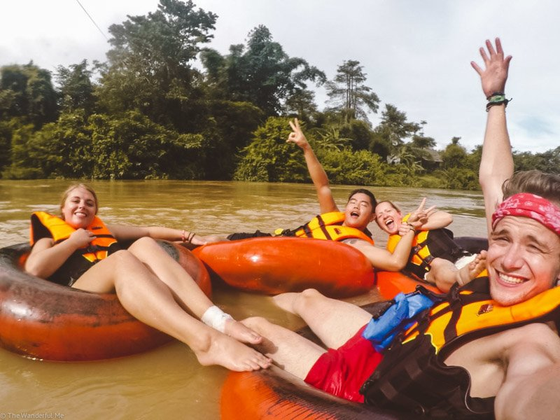 Tubing in Vang Vieng is one of the most popular things to do here! And no doubt one of the most fun.