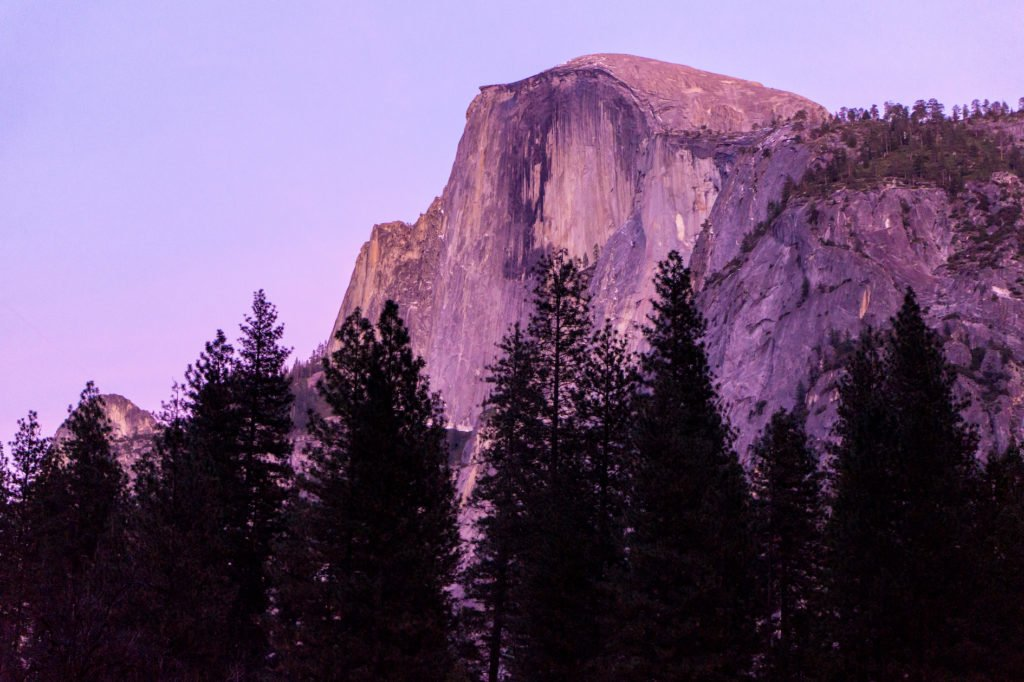 Sunset at the Half Dome • Useful Things to Know Before Visiting Yosemite and Sequoia in the Winter | The Wanderful Me