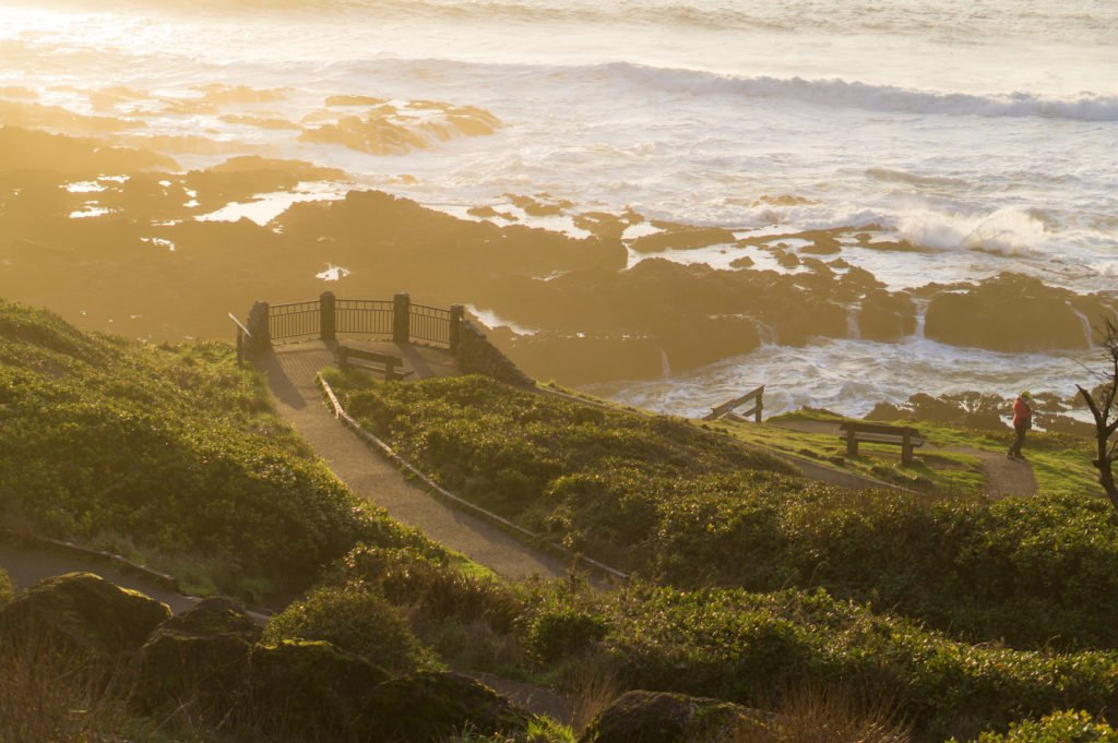 Sunset at Coast •25 Photos to Spark Your Visit to the Oregon Coast | The Wanderful Me