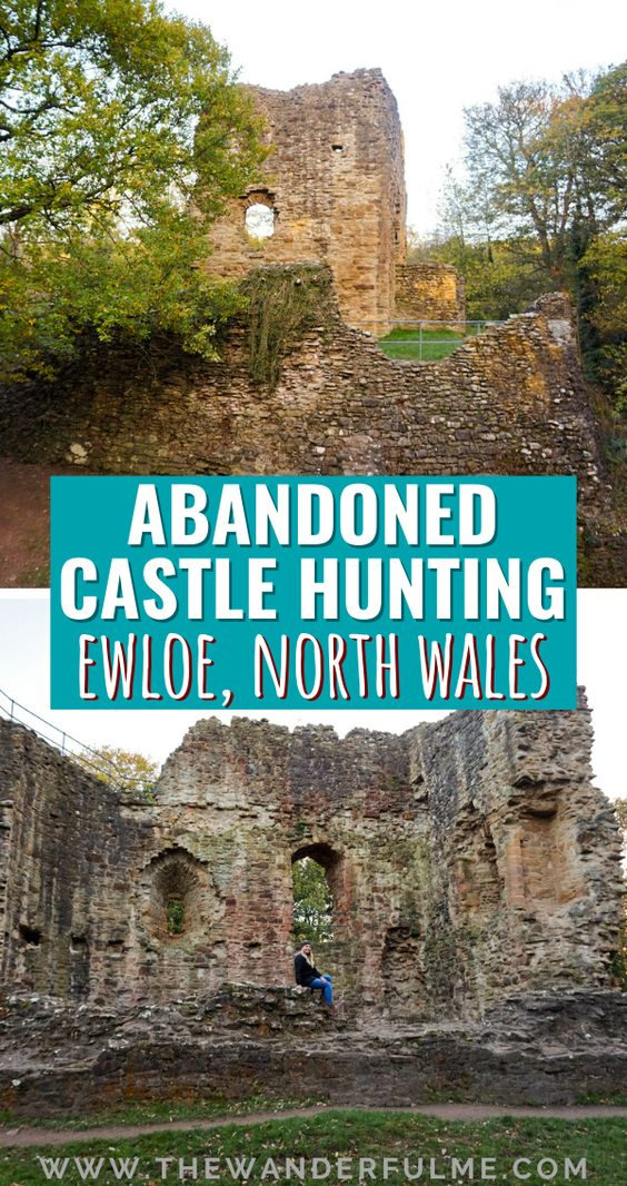 Interested in doing some abandoned castle hunting? Frequently called the castle capital of the world, Wales has TONS of abandoned, ruined castles -- including Ewloe Castle in North Wales! Here are my photos to inspire you to visit, as well as a bit of history behind this cool place. #ewloe #castle #wales #uk