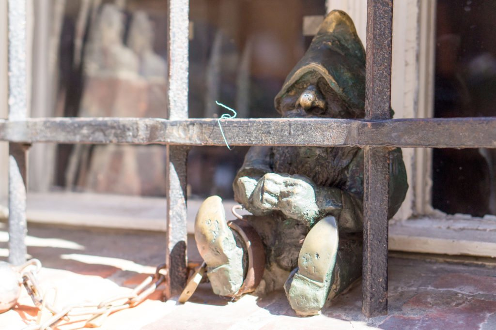 A gnome in prison •24 Hours in Wroclaw, Poland