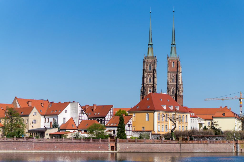 Cathedral Island from afar •24 Hours in Wroclaw, Poland