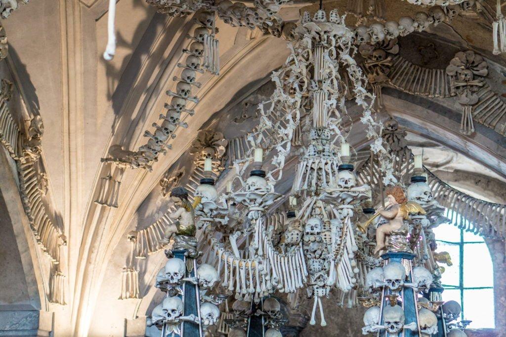 Human Bone Chandelier • Bone Church, Kutna Hora