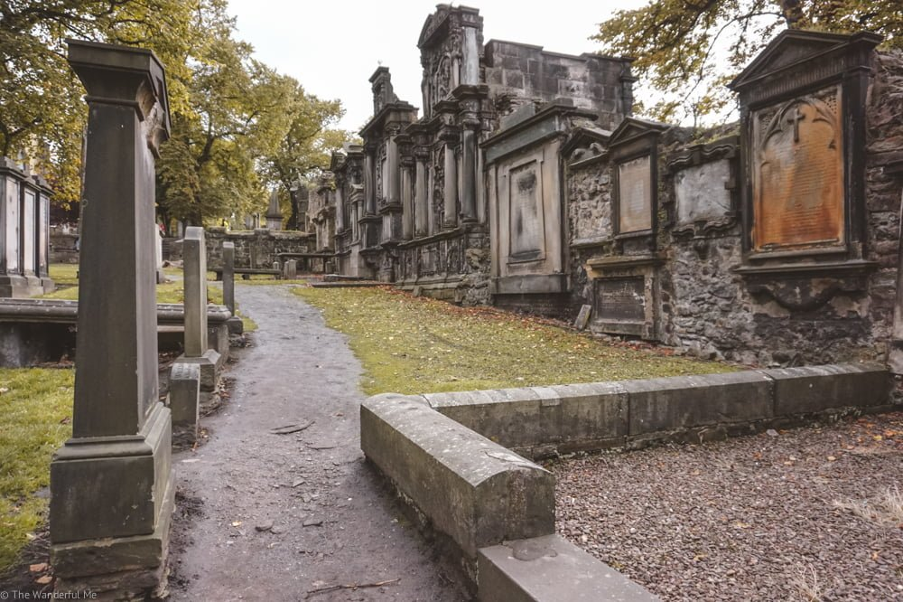 Greyfriars Kirkyard and all its creepy gravestones.