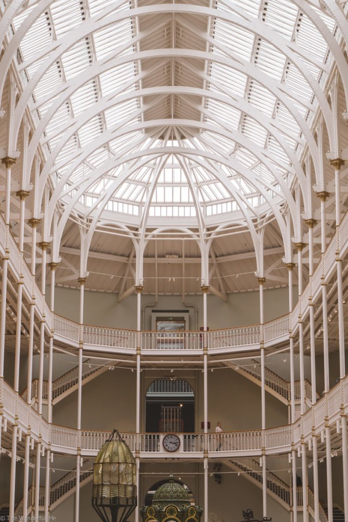 Inside the National Museum of Scotland, a beautiful building filled with wonder.