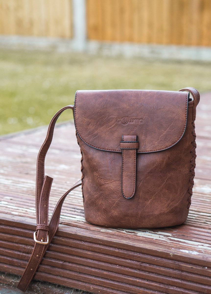 The Gowma Sling Bag up close. •Discovering the vegan Gowma Sling Bag from LifeStyle International