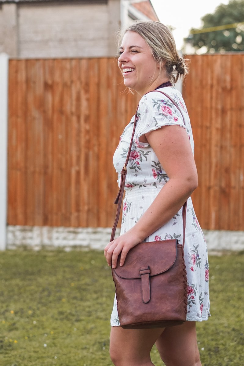 Laughing at how much I love this brand's philosophy. •Discovering the vegan Gowma Sling Bag from LifeStyle International