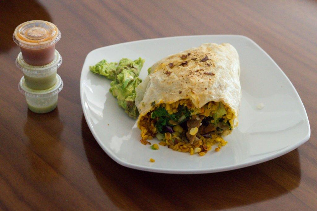 Veggie Table vegan burrito • Veggie Table, Puerto Vallarta, MX