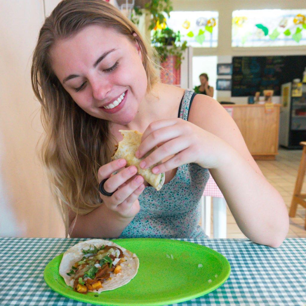 In vegan taco heaven • Veggie Table, Puerto Vallarta, MX
