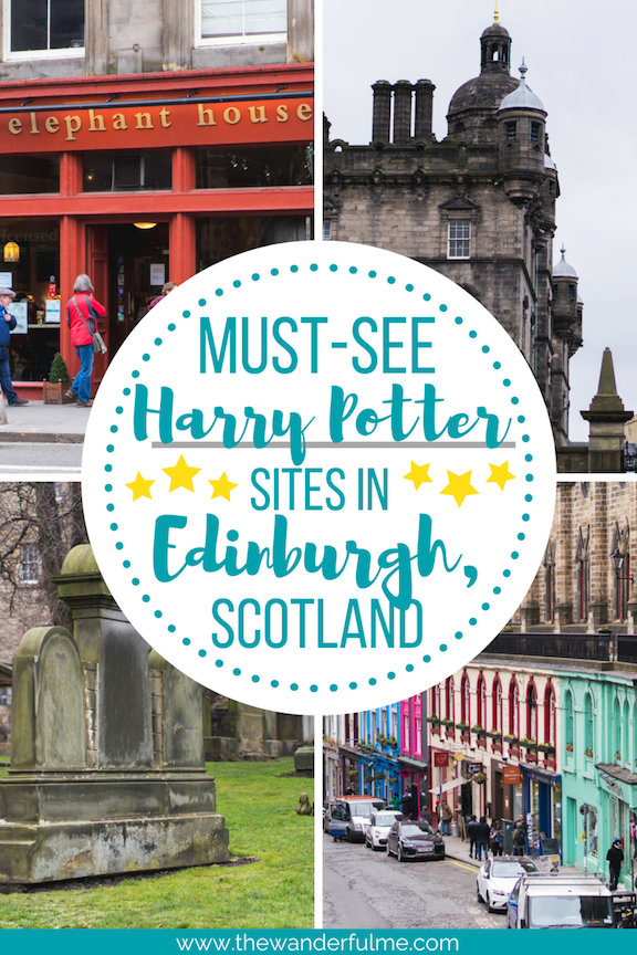 Magical alleyways, haunting graveyards, captivating cafes, and Hogwarts?! There are tons of must-see Harry Potter sites in Edinburgh, Scotland you can't miss! | #edinburgh #scotland #harrypotter #HP #europe #unitedkingdom #uk #magical #magic #harrypottersites #visitscotland