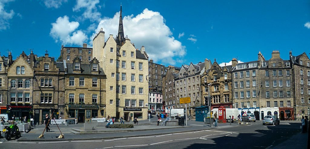 Grassmarket in Edinburgh •Must-See Harry Potter Sites in Edinburgh, Scotland