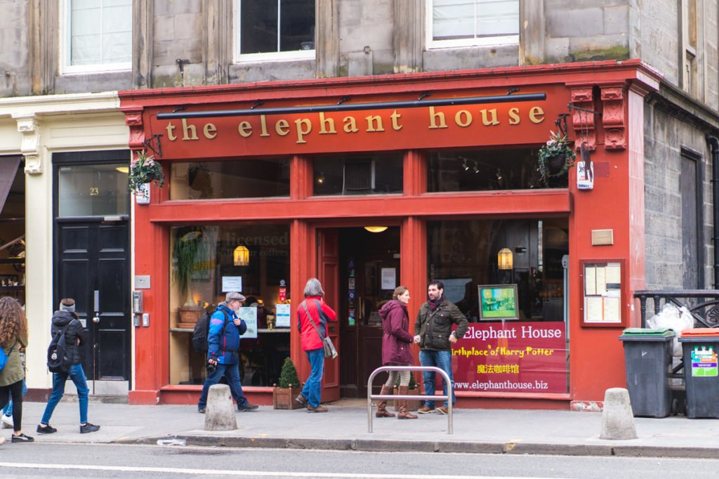 "The Elephant House is notorious for being the ""Birthplace of Harry Potter."" It's a popular cafe, as travelers try to recreate what J.K. Rowling felt while creating one of the best series here."