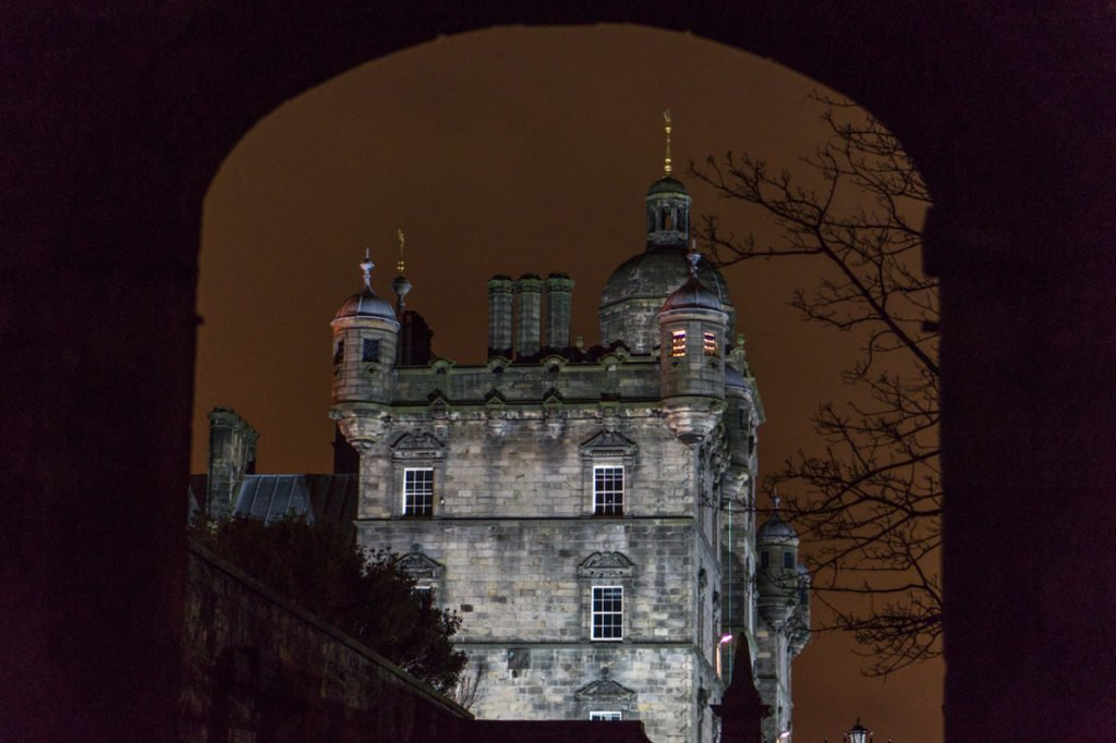 A corner of George Heriot's School, which inspired the magical school of Hogwarts in the Harry Potter series.