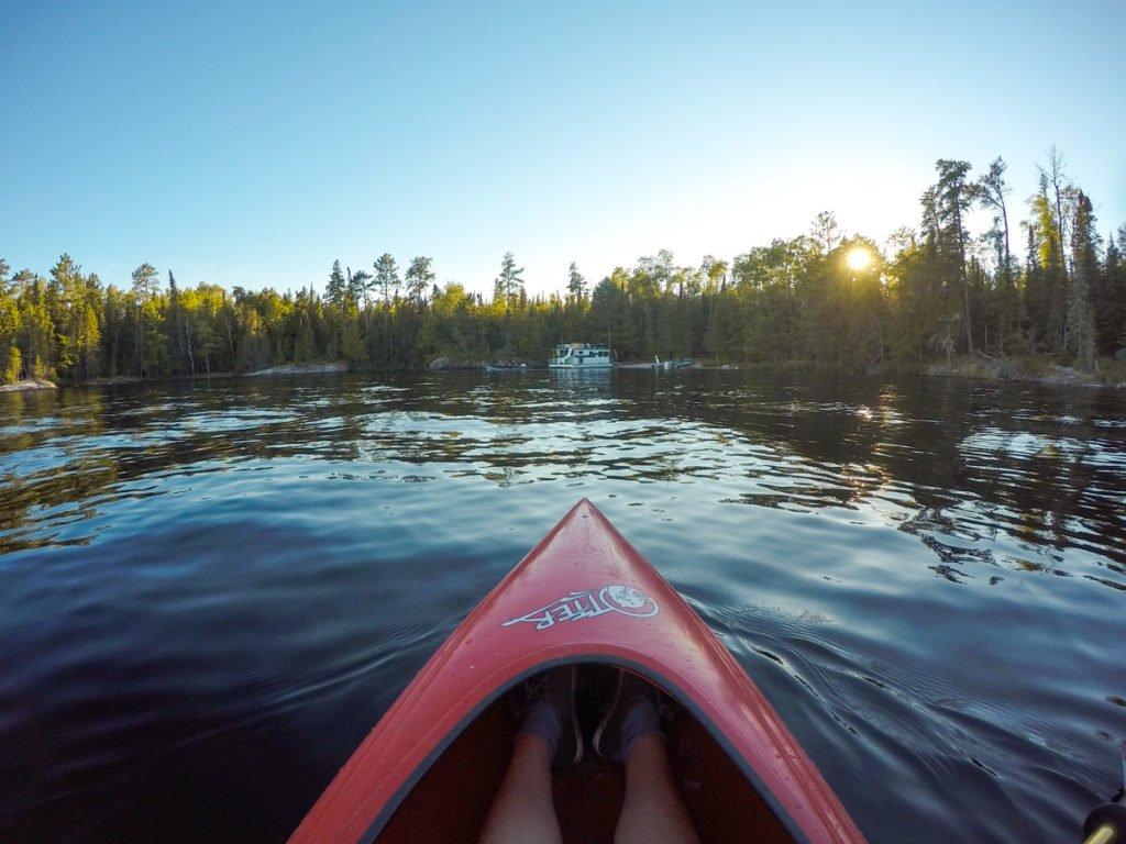 Kayaking in Voyageurs National Park.