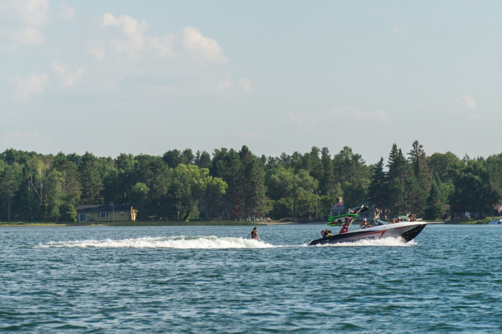 Out on the water. Summer days in Minnesota.