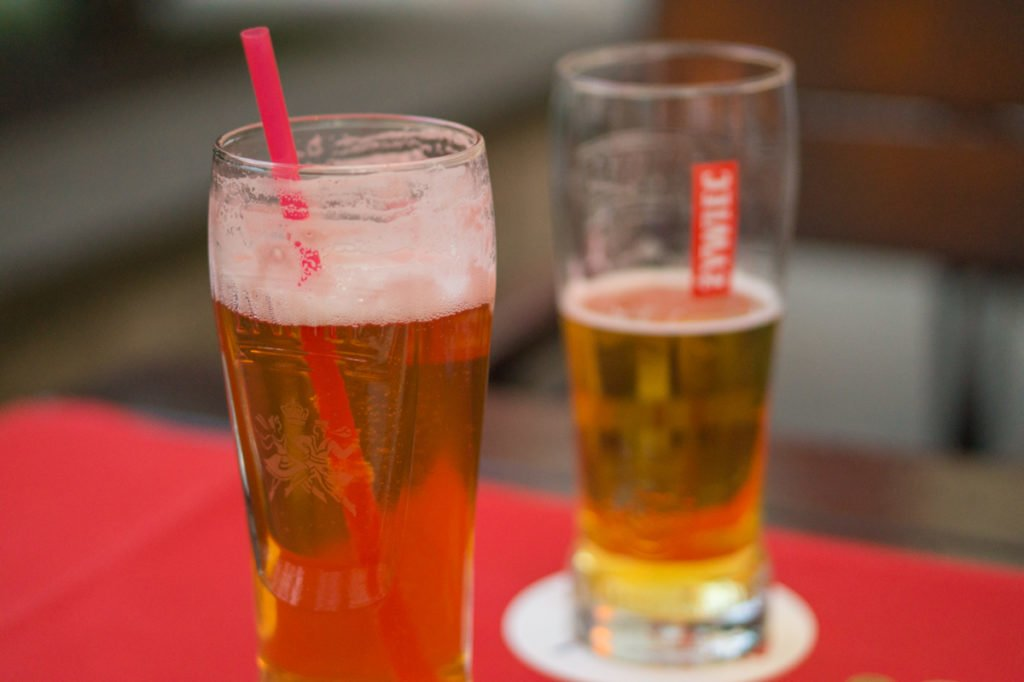 Raspberry-flavored beer. • Vegan in Warsaw: 10 Vegan Restaurants You Can't Miss!