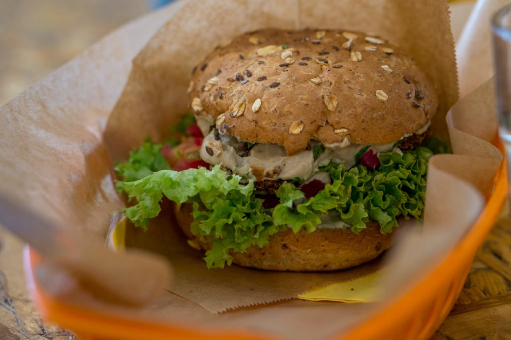 Vegan burger. • Vegan in Warsaw: 10 Vegan Restaurants You Can't Miss!