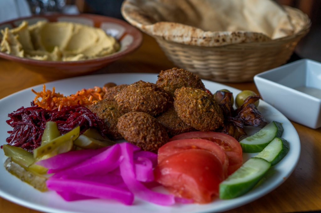 Vegan feast of Lebanese food. • Vegan in Warsaw: 10 Vegan Restaurants You Can't Miss!