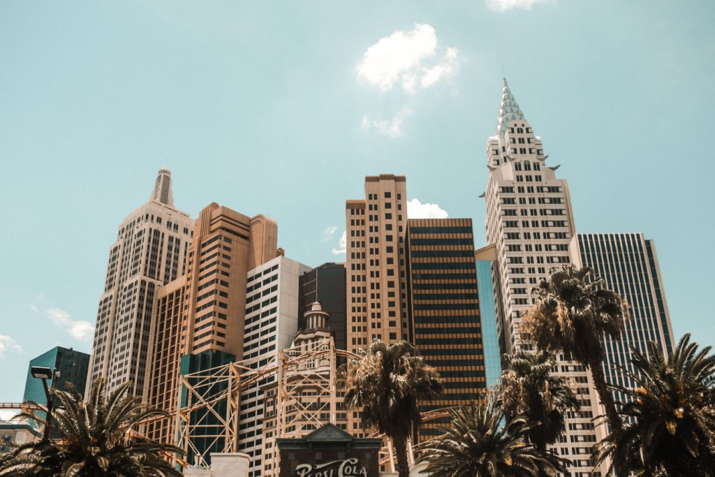 Las Vegas skyline. •The Ultimate 1-Month USA West Coast Road Trip Itinerary