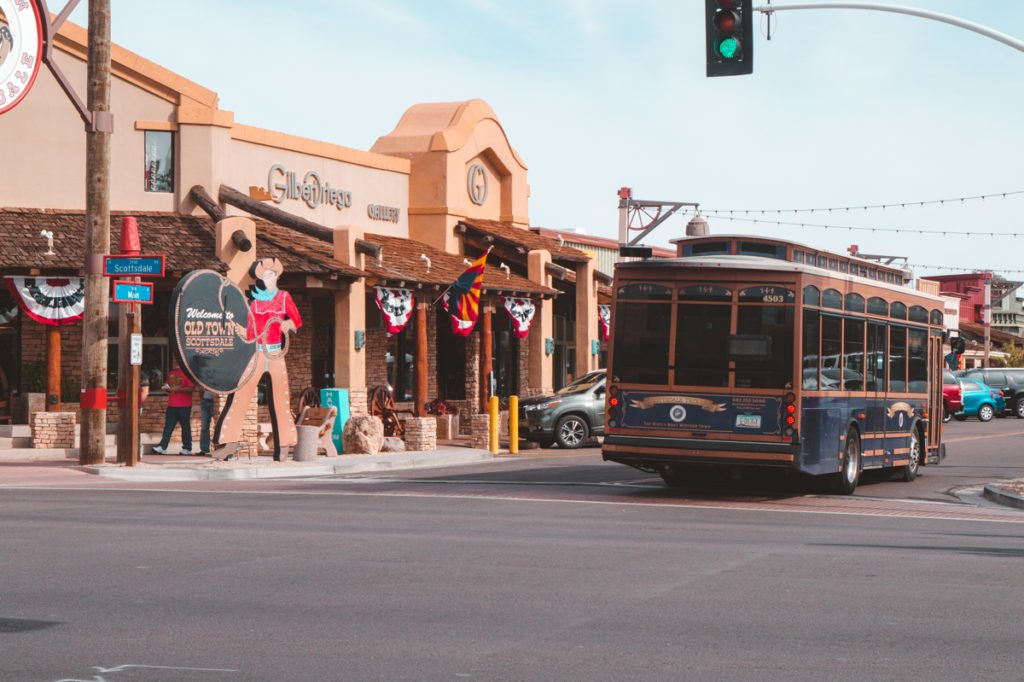 Downtown Scottsdale •The Ultimate 1-Month USA West Coast Road Trip Itinerary