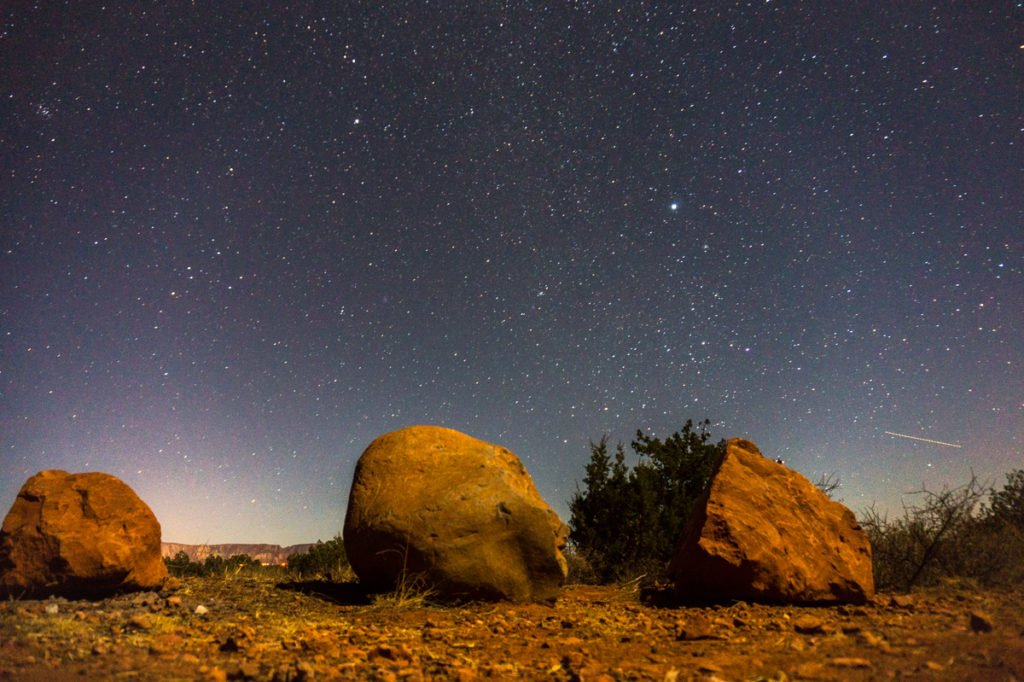 Starlit sky outside of Sedona. •The Ultimate 1-Month USA West Coast Road Trip Itinerary