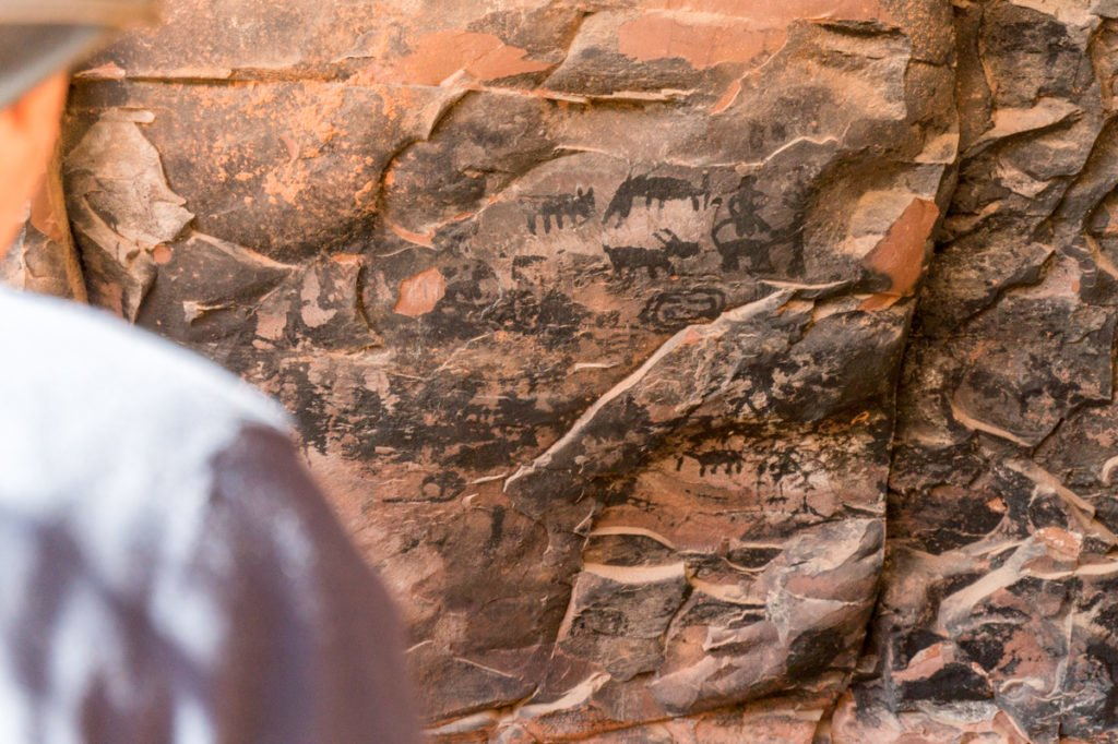 Ancient pictographs at the Palatki Heritage Site.