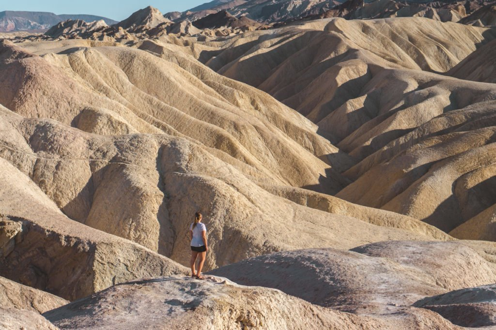 Standing in Death Valley National Park. •The Ultimate 1-Month USA West Coast Road Trip Itinerary