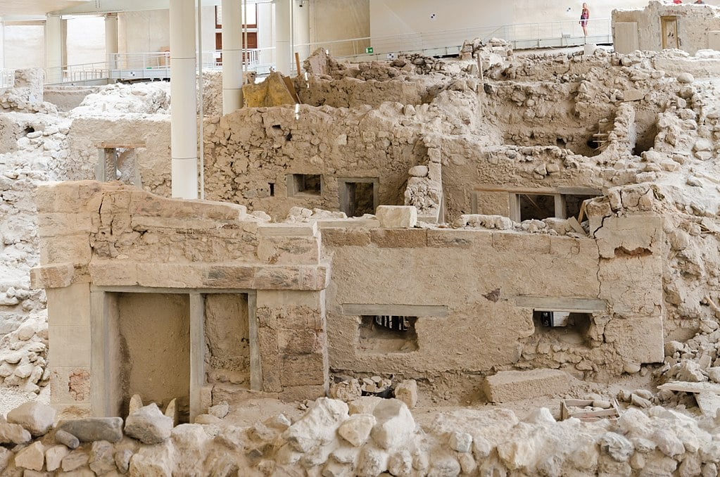 Akrotiri Ruins. • Day Trip to Santorini from Athens Guide.
