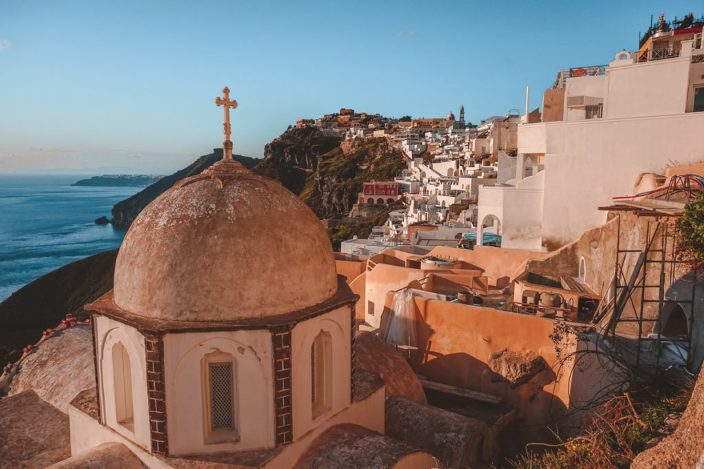 Cross above Santorini. • Day Trip to Santorini from Athens Guide.