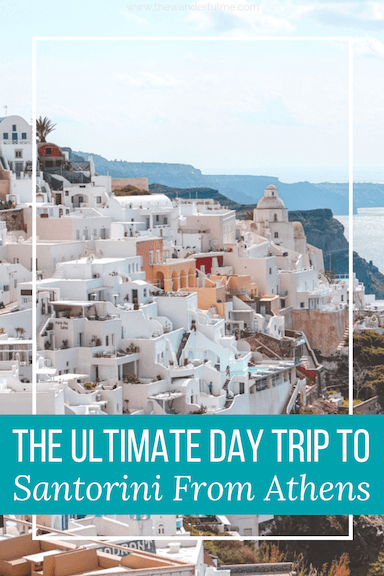Planning a day trip to Santorini from Athens? Here's the ultimate guide to help you plan a trip to the island! The best things to do in Santorini, how to get around the island, best way to get there, and how much to budget! | #santorini #greece #santoriniisland #visitgreece #europe #daytrip #tour #tips #travel