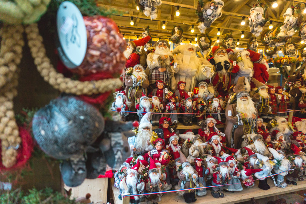 Lots and lots of Santa decorations. • Manchester Christmas Market: 25 Photos to Inspire You to Visit