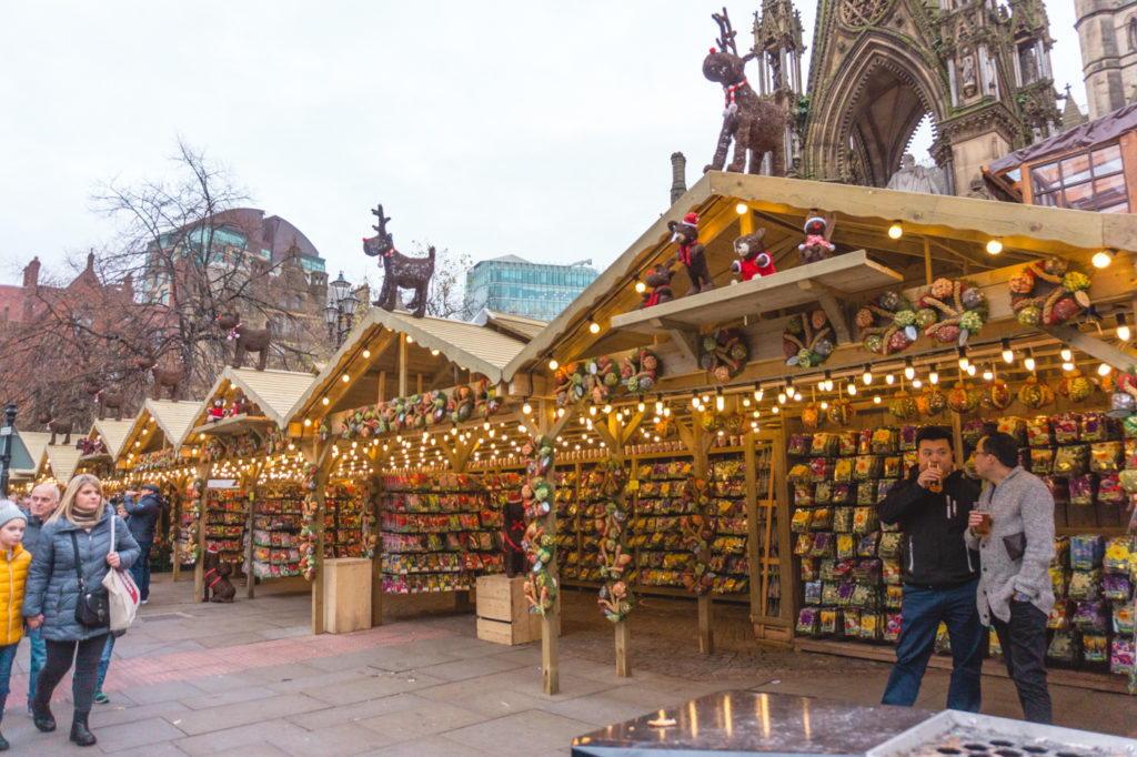 Christmas stands. • Manchester Christmas Market: 25 Photos to Inspire You to Visit