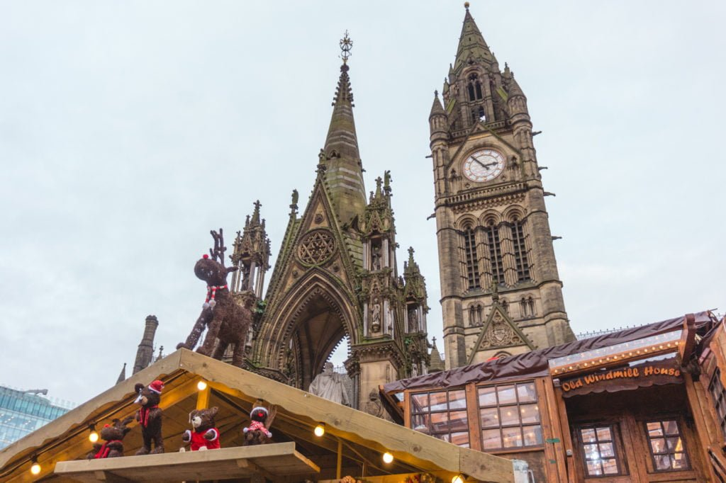 Gothic tower. • Manchester Christmas Market: 25 Photos to Inspire You to Visit